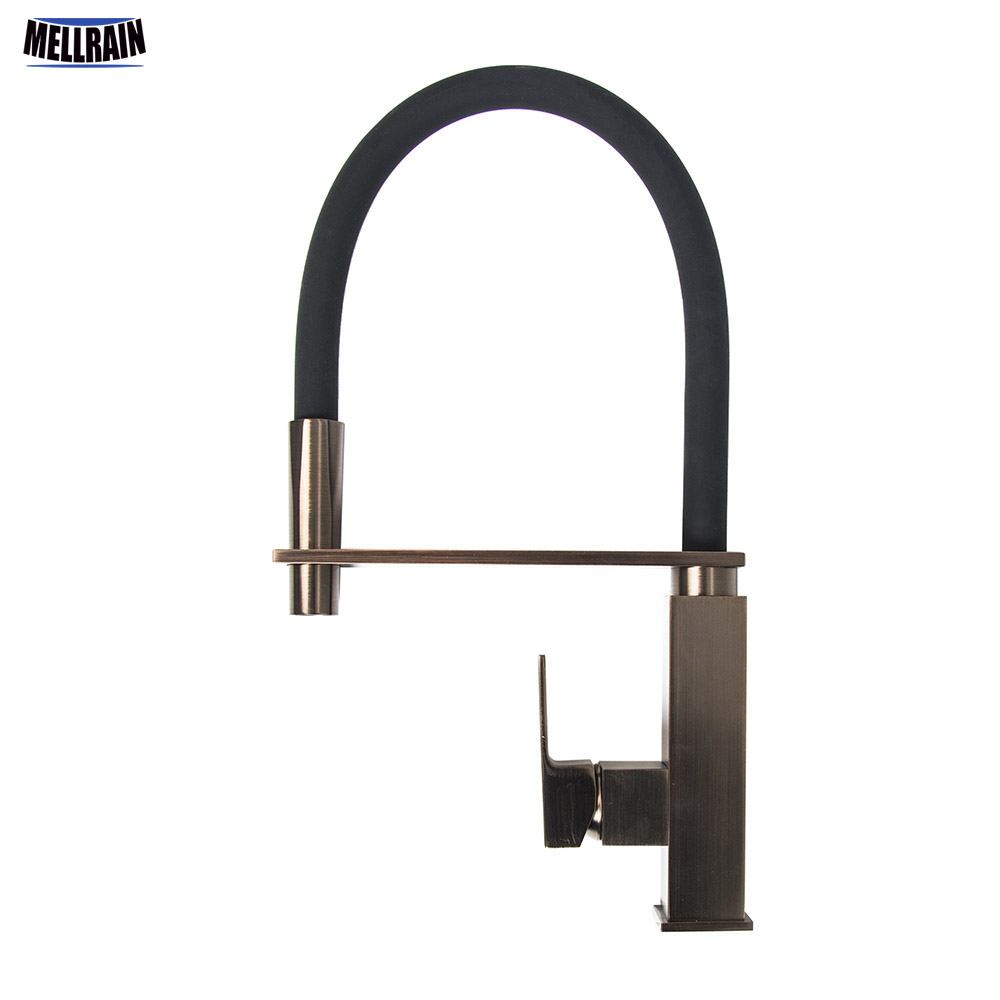 ORB Brass Pull Out Kitchen Faucet Single Handle 360 Degree Rotation Kitchen Sink Hot & Cold Water Mixer Tap Ware newly arrived pull out kitchen faucet gold chrome nickel black sink mixer tap 360 degree rotation kitchen mixer taps kitchen tap