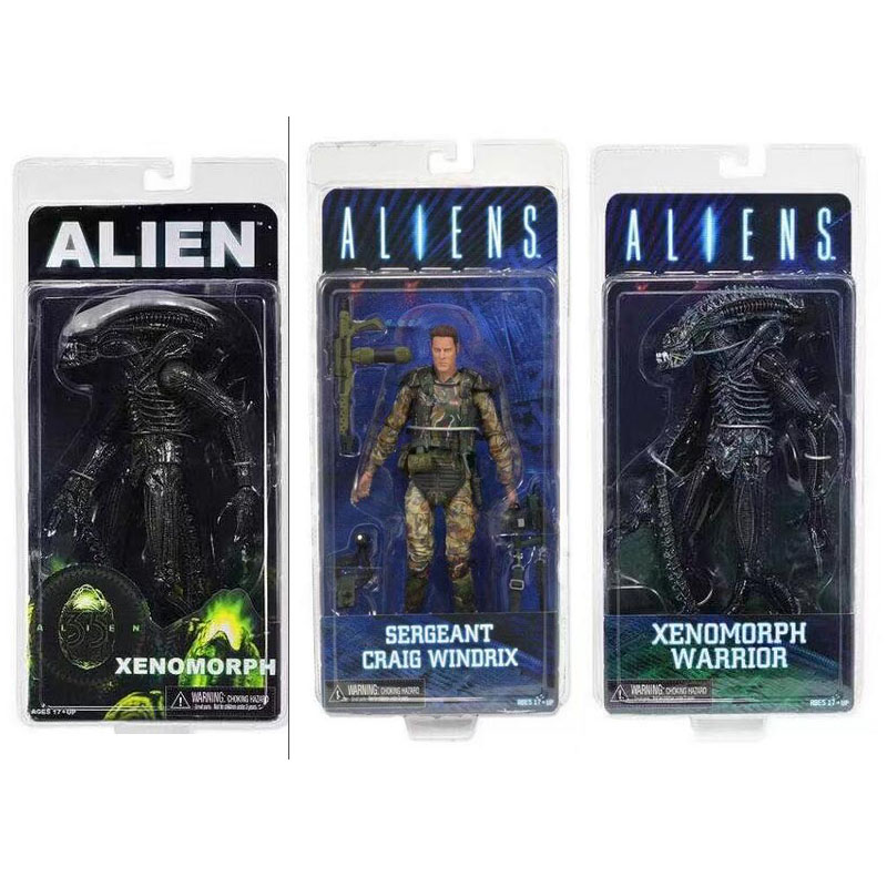 NECA ALIEN Xenomorph Warrior Sergeant Craig Windrix PVC Action Figure Collectible Model Toy 19cm neca alien lambert compression suit aliens defiance xenomorph warrior alien pvc action figure collectible model toy 18cm