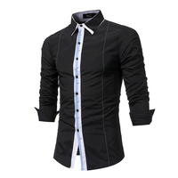 Dress Shirts 2017 Spring Autumn Features Shirts Men Casual Fight Color New Arrival Long Sleeve Casual
