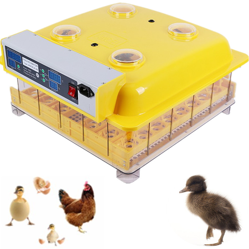 Fast shipping!!! Household 48 egg incubator Turning duck chicken goose quail egg automatic incubator control temperature