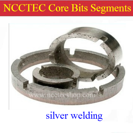 [Crown type] 28.4mm 1.1'' Diamond Core drill Bits WET Crown segments CDS284C FREE shipping | SILVER welded teeth for core bits the silver crown