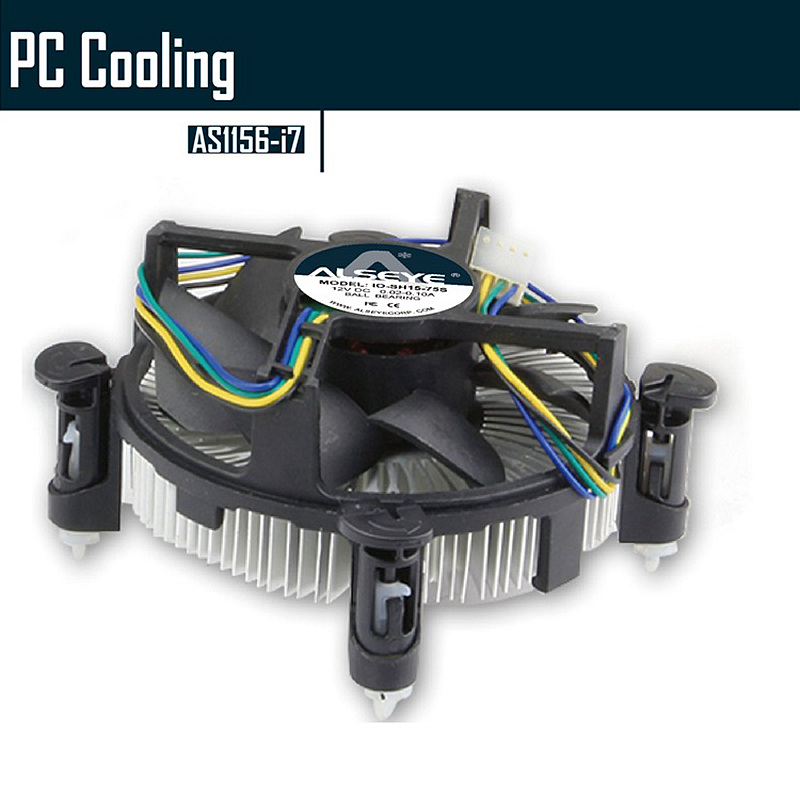 ALSEYE LGA 1155 CPU Cooler Heatsink Copper Cold Plate with 90mm CPU fan for i3/i5/i7 LGA 1156/1151/1150 Radiator alloyseed g1 4 thread computer water cooling gpu waterblock cpu radiator cooler for intel lga 1150 1151 1155 1156