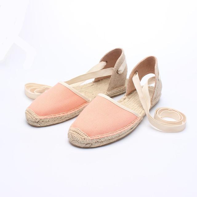 2017 New Arrival Clássico Bowtie sapatas de Lona Alpercatas Mulheres Ballet Flats Sapatos De Palha De Linho Elástico Tarja Gingham Zapatos Mujer
