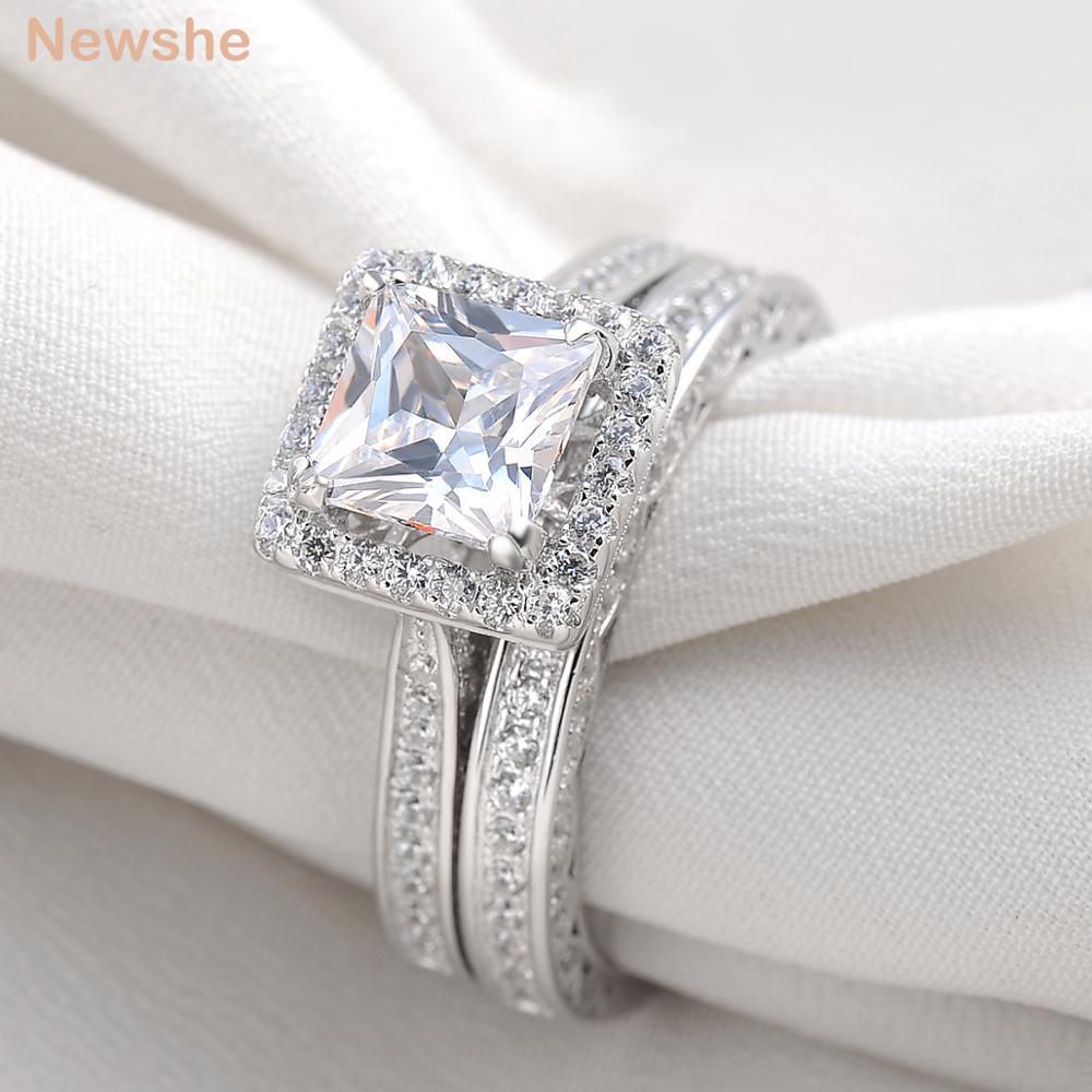 Classic Princess Cut Diamond Engagement Rings