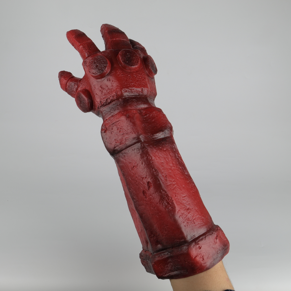 Hellboy Rise of the Blood Queen Glove Right Hand Cosplay Gloves Accessories Armor Latex Hand Gauntlet Party Halloween (17)