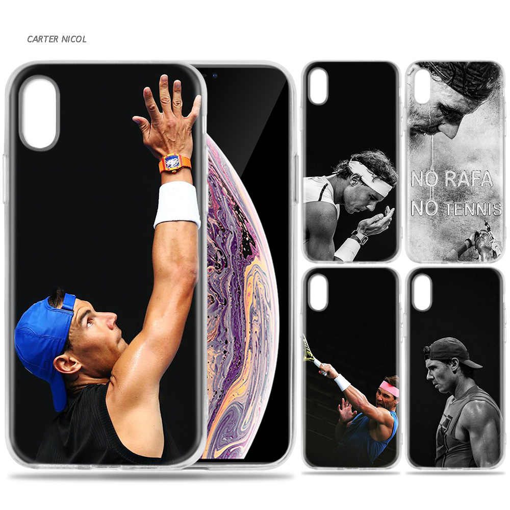 Case for iPhone 7 8 6 6s Plus 5 5S SE 5C X XS MAX XR Silicone Coque Cases Cover Rafael Nadal