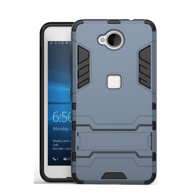meet 6afee 7c01f US $3.26 |Hot Sell Silicon Case For Microsoft Nokia Lumia 650 Case Stand  Armor Back Cover TPU & Plastic Hybrid 5 inch Phone Case-in Half-wrapped  Case ...
