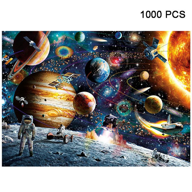 RCtown 1000 Pieces Jigsaw Puzzles Educational Toys Scenery Space Stars Educational Puzzle Toy For Kids Birthday Gift Stickers