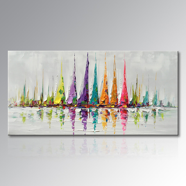 EVERFUN ART Framed 100% hand painted chinese modern abstract ...