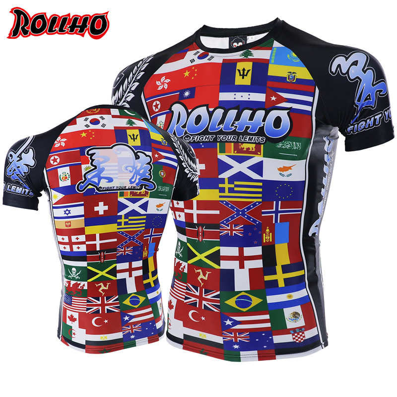 Quick Dry Boxing MMA T Shirt Gym Tee Fighting Martial Arts Fitness Training Men Homme Boxe Sports Shirts