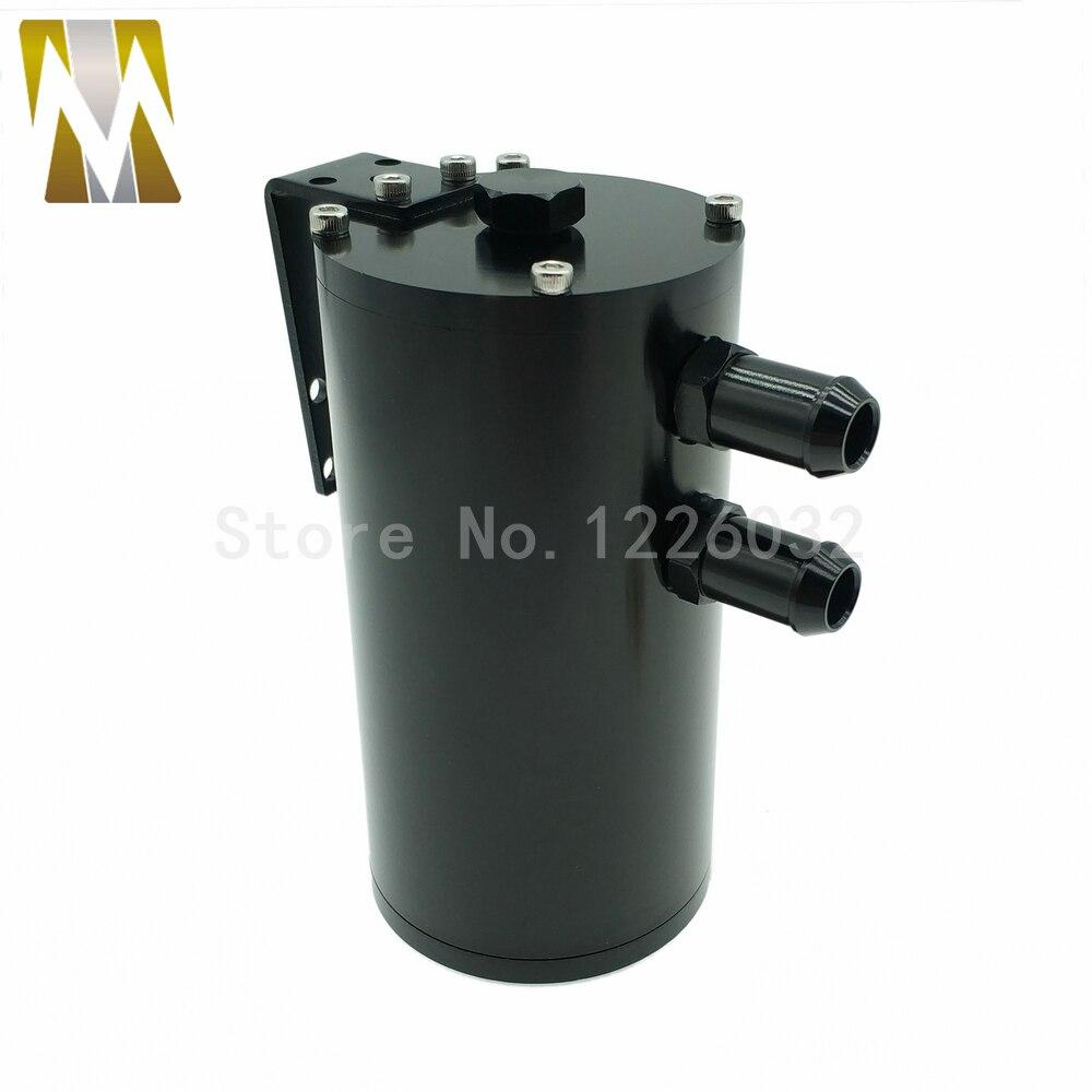 Réservoir de moteur de voiture noir universel réservoir rond bouchon d'huile/réservoir en aluminium 250 ML