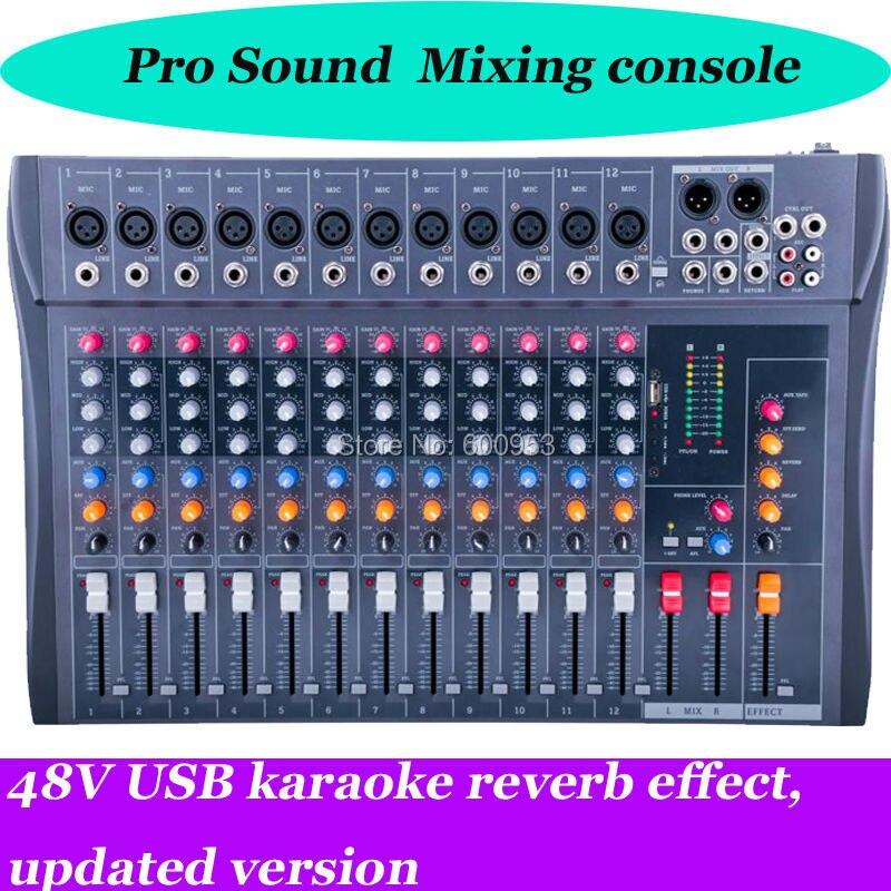 Heim-audio & Video Romantisch Professionelle Ct120s-usb Mixer 12 Input Stereo Mixer W/effekte Und Usb-schnittstelle Neue Mischprinzip-doppelbewegung Sound Konsole