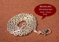 Free shipping 100% 925 silver jewelry, men's necklace, wild match, Taiyi chain, 4mm retro Thai silver chain