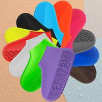 Reusable Rain Shoe Covers Waterproof Rubber Anti Slip Rain Boot Overshoes Raincoat Silicone Shoes Cover Elastic Outdoor Tools