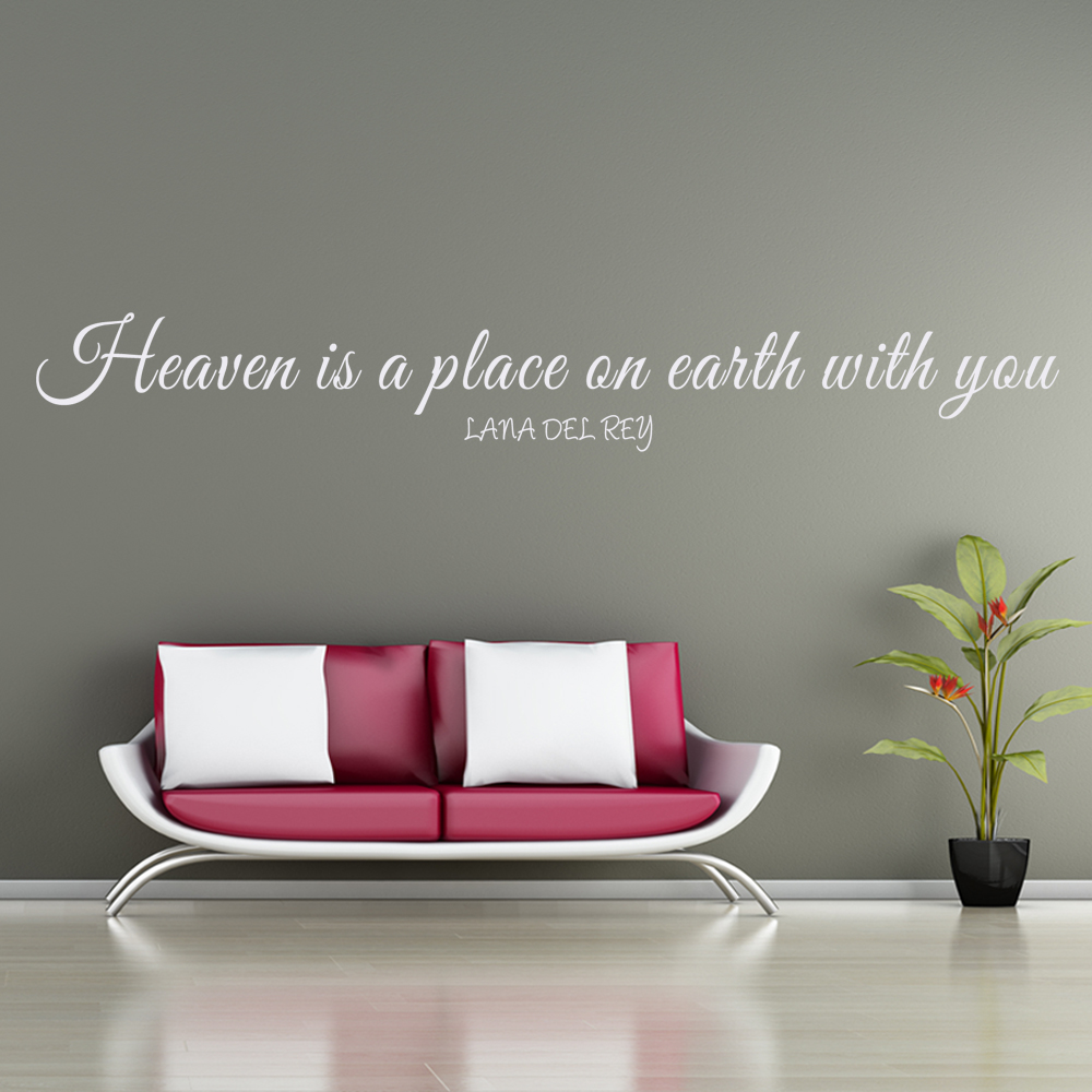 online buy wholesale sticker pop art from china sticker pop art heaven is a place on earth with you lana del rey wall decal vinyl art