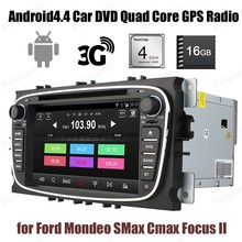 for Ford Mondeo SMax Cmax Focus II 2 din 16G ROM Car DVD GPS touch screen Radio Wifi 3G BT Android4.4 stereo