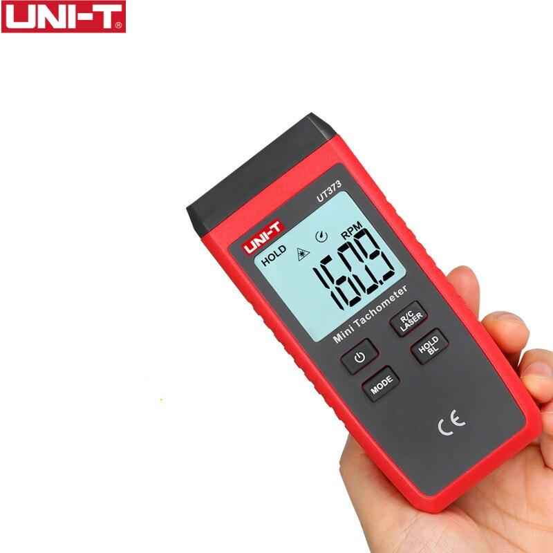 UNI-T UT373 Mini tachymètre Laser numérique tachymètre sans Contact plage de tr/min 10-99999 tr/min tachymètre odomètre Km/h rétro-éclairage