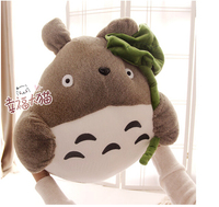 Gift for baby 1pc 45cm cute creative Totoro with lotus leaf pacify plush hold doll home novelty children stuffed toy