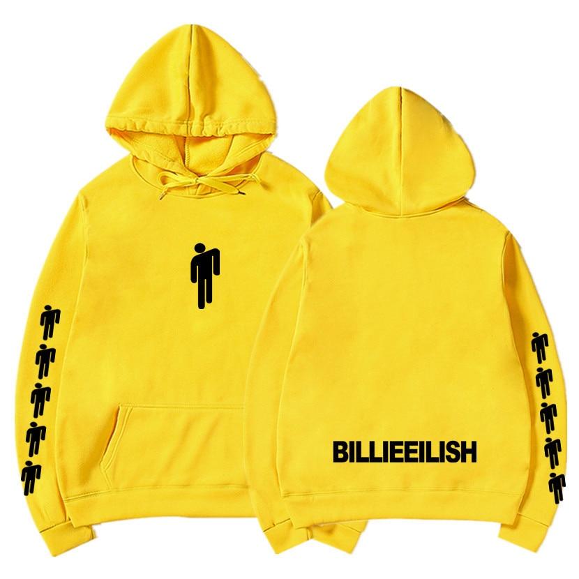 Billie Eilish Fashion Printed Hoodies Women Men Long Sleeve Hooded