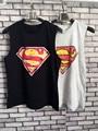 Mujeres tank top 2016 summer crop top Fashion sexy Superman Mujeres Del O-cuello Tops y Camisetas Sin Mangas mujeres tank tops