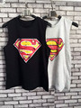 Women tank top 2016 summer crop top Fashion sexy Superman Women O-Neck Tops & Tees  Sleeveless women tank tops