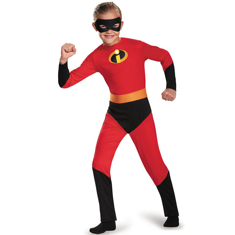 Kids Superman mobilization cosplay Costume The Incredibles The Boys Fastest Dash Classic Dress Child Superhero Party Costume