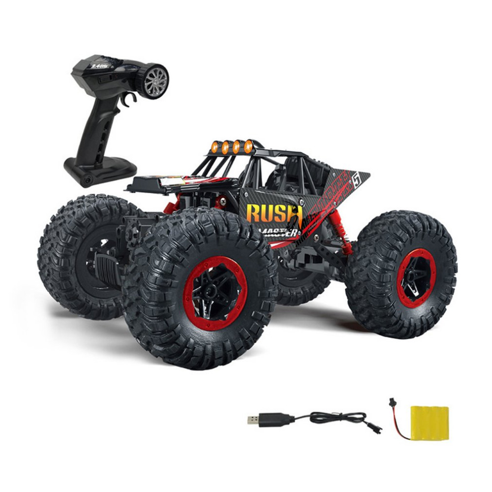 Mini Remote Control Anti-slip Dumpers Rotation For Child Gifts Cross Country Simulation 1:16 Charging Scale Race Truck Car Toy