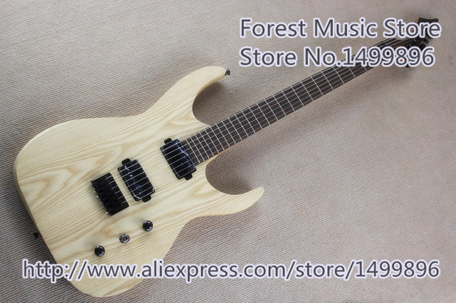 Cheap Natural Wood Blackmachine B6 Electric Guitar China Ash Guitar Body As Picture Free Shipping