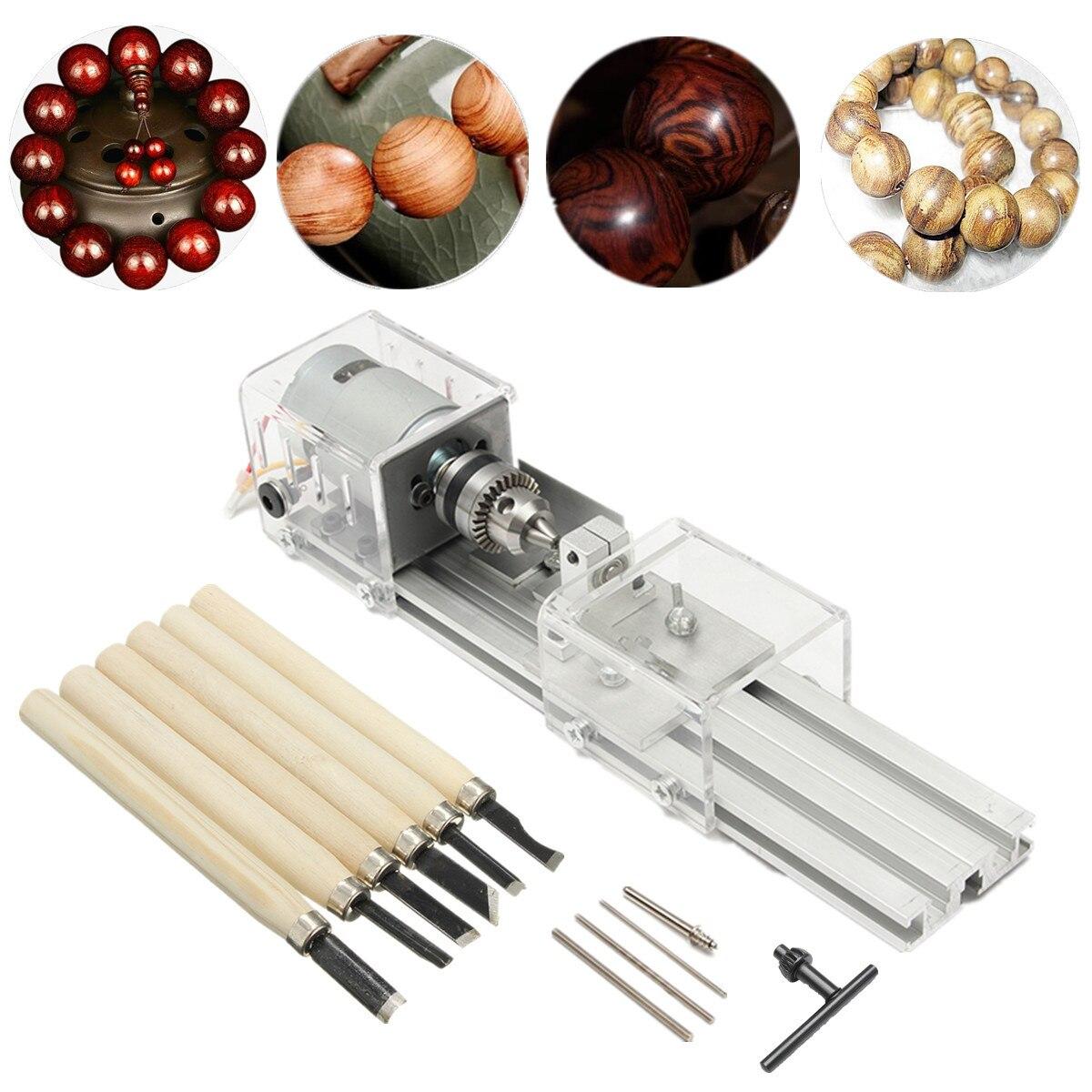 100W 24V Miniature Lathe Beads Polisher Machine DIY Lathe Machine Buddha Pearl Lathe Grinding and Polishing Beads Wood Working цены