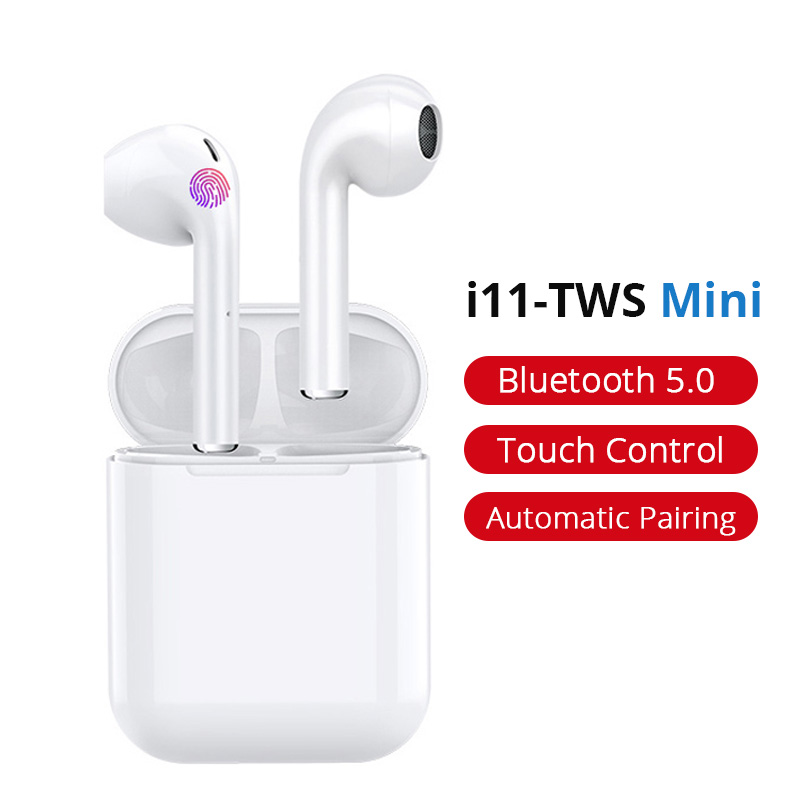 New I11 TWS Touch Control Wireless Headphones Bluetooth 5.0 Earphones Stereo In-Ear Earbuds Headset With Dual Mic PK I10 I12 I13