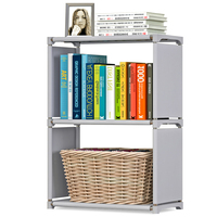 3 Tier Simple Bookshelf Assembled Nonwoven Fabric Student Book Storage Oragnizer Kids Small Shelf Bookcase for Home Decoration
