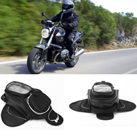 Dewtreetali new hot Oil Fuel Tank Bag Magnetic Motorcycle Motorbike Oil Fuel Tank Bag saddle Bag w/ Bigger Window Moto Accessory