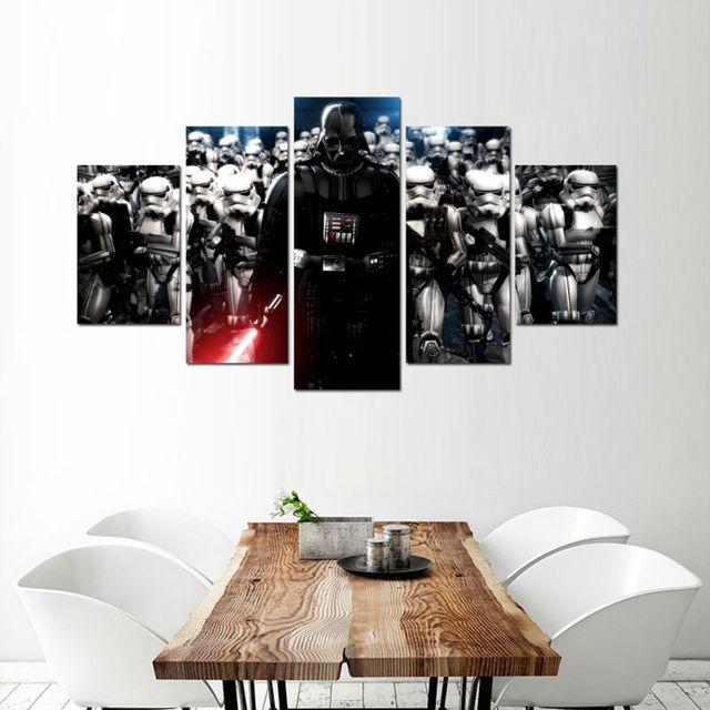 5 Panel Star Wars Darth Vader Anakin Skywalker Modern Home Dekoracje