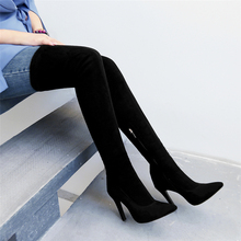 sexy party boot woman large size 31-43 autumn over the knee boots thin high heels shoes