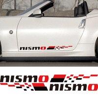 3 Pairs Customization NISMO Car Door Stickers Decal Car Styling For Nissan Qashqai Juke Almera X