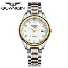 2016 Оригинал GUANQIN Кварцевые Часы Дамы Платье Наручные Часы Relogio Feminino Montre Femme Мода Часы Золотые Часы Женщин