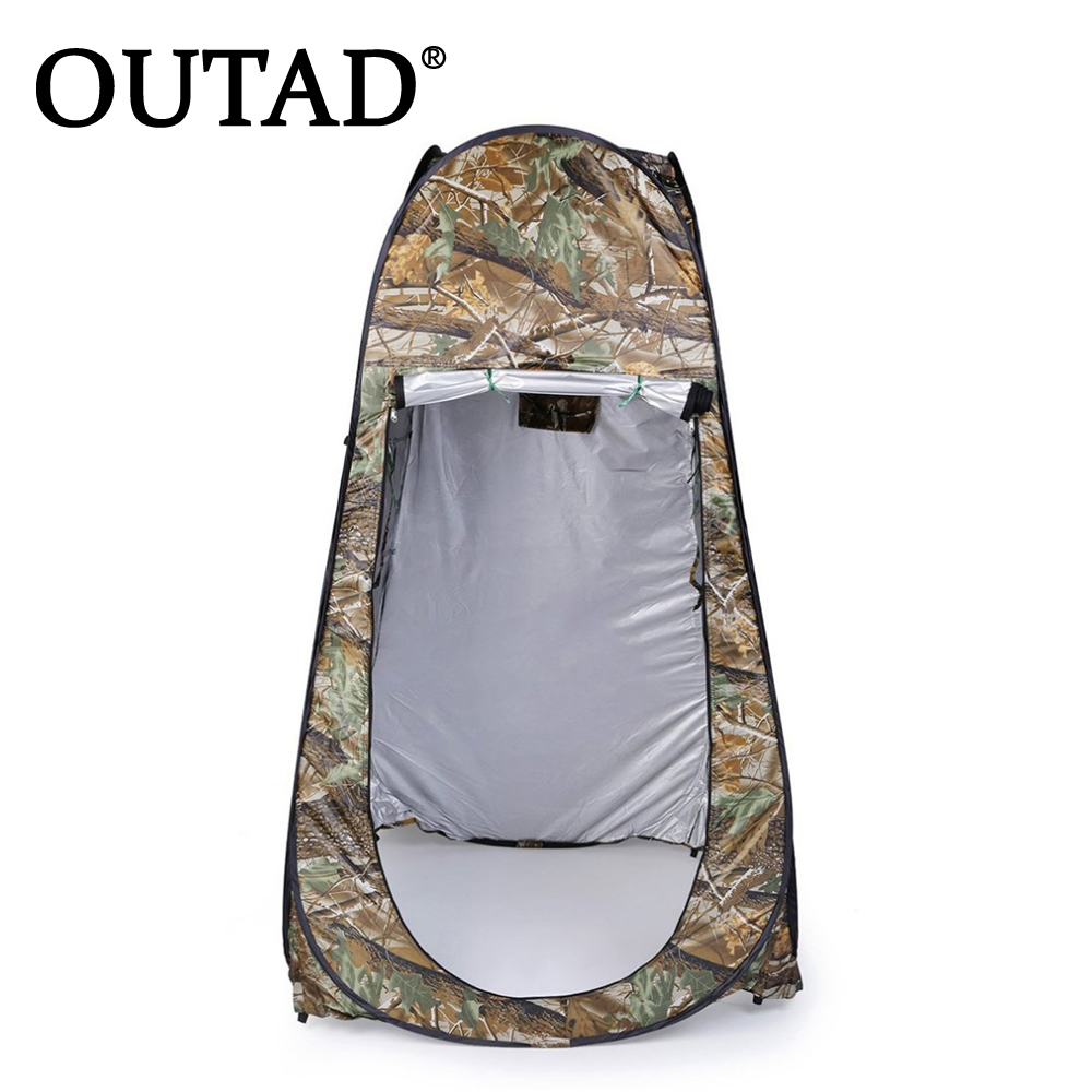 OUTAD Portable Outdoor Pop Up Tent Camping Shower Bathroom Privacy Toilet Changing Room Shelter Single Moving Folding Tents portable foldable pop up tunnel basketball tent