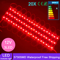 Wholesale DC12V SMD 5730 3LEDs LED Modules IP65 Waterproof Light Lamp 5730 White/Red/Green/Blue High Quality Advertising Light