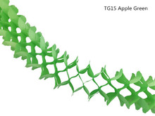 10pcs/lot 11ft Apple Green Four Leaf Clover Expanding Tissue Paper Garlands Hanging Backdrop Wedding Party Favors