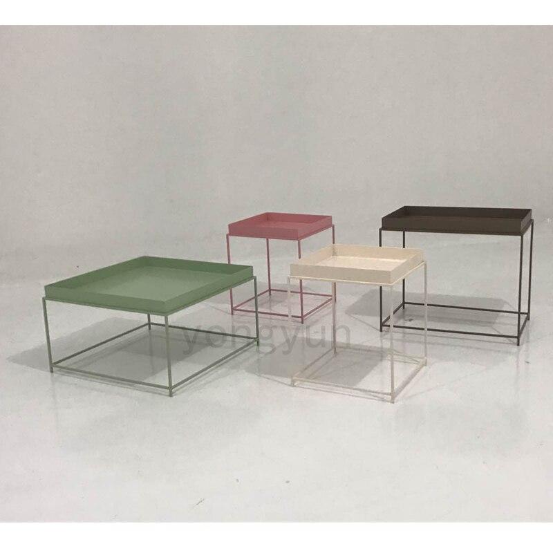 Modern Design Metal Steel Tray Table modern loft Tea Side