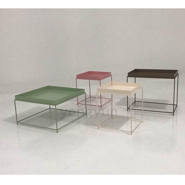 Modernes Design Metall Stahl Tablett Moderne Loft Tee Beistelltisch