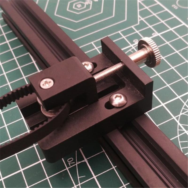 1pcs Anet E10 3D Printer Upgrade Parts Aluminum Alloy Metal Adjustable Anet E10 Y Belt Tensioner Kit