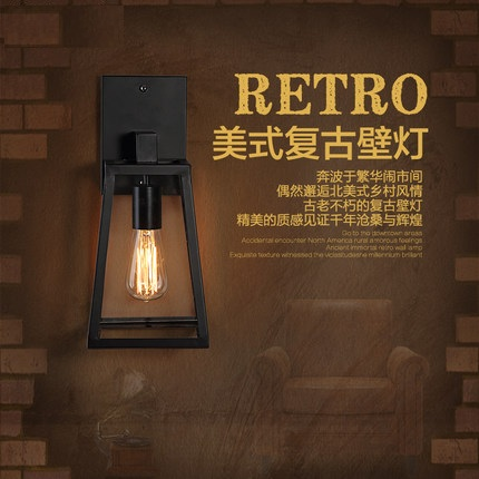 Loft Style Glass Bedroom Wall Lamp Antique Edison Wall Sconce Industrial Vintage Wall Light Fixtures For Home Lighting Lampara  free shipping brass finished e27 industrial edison wall lamp antique copper vintage beside lighting ac90 250v for bedroom