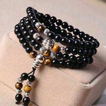 Bracelet Onyx Noir Femme