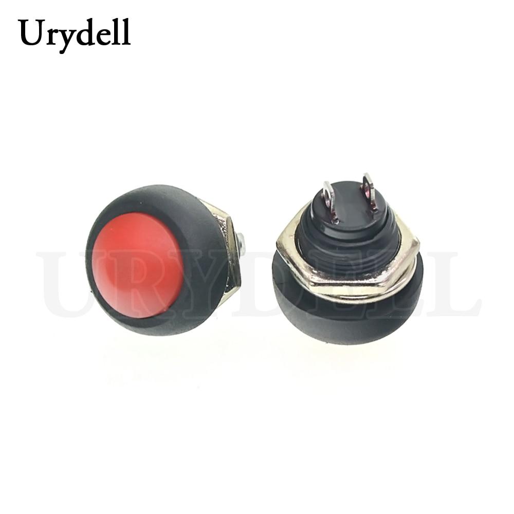 1 шт. красный/зеленый/белый/черный/синий/желтый/оранжевый ВКЛ-ВЫКЛ 12 мм водонепроницаемый Мгновенный кнопочный переключатель SPDT