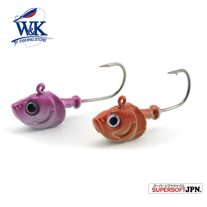 W&K Brand Jig head for 11 cm soft lure 5/0 jig hook 30g Deep Water Bullet Weight Soft Baits Fishing Tackle Accessories #HJUL302