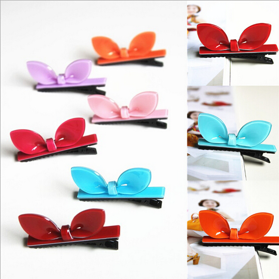 New Arrival styling tools Cute Multicolor rabbit ears hairpin headwear hair accessories for women girl children