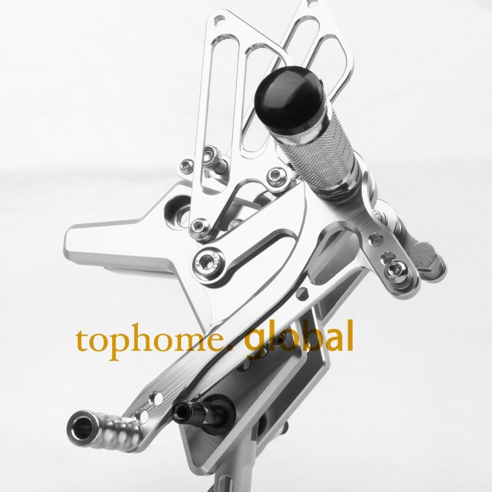 Motorcycle CNC Rearsets Foot Pegs Rear Set For Kawasaki Z750 2004 2005 2006 motorcycle foot pegs Silver