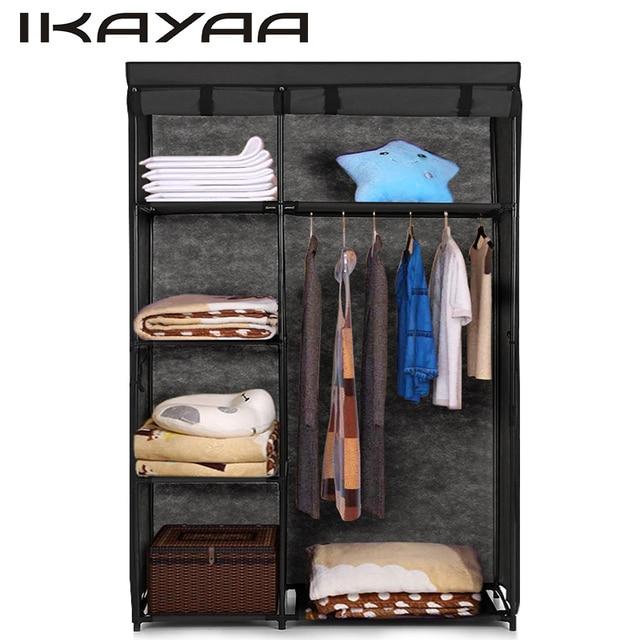 Ordinaire IKayaa Fabric Folding Closet Wardrobe Cloth Cabinet Roll Up Clothes  Organizer Wardrobe With 5 Storage Shelves