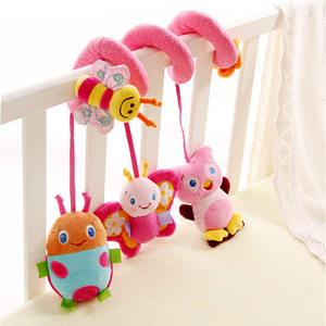 Image 3 - חינוכיים תינוק רעשנים מוביילים בעלי החיים ספירלת רעשנים צעצועי תינוק עגלת מיטת פעמון מיטת תינוק משחק עגלת תליית צעצועים
